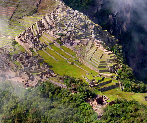 Machu Picchu from the Wayna Picchu, a must for the adventurer.